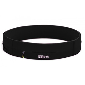 FlipBelt Zipper Fitness Belt, black